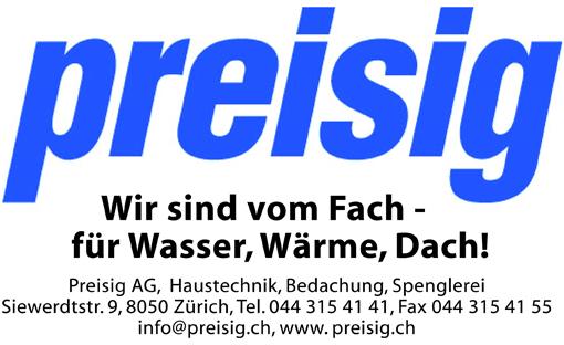 Preisig AG, Haustechnik, Bedachung, Spenglerei, Zürich